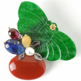 Green Butterfly Brooch