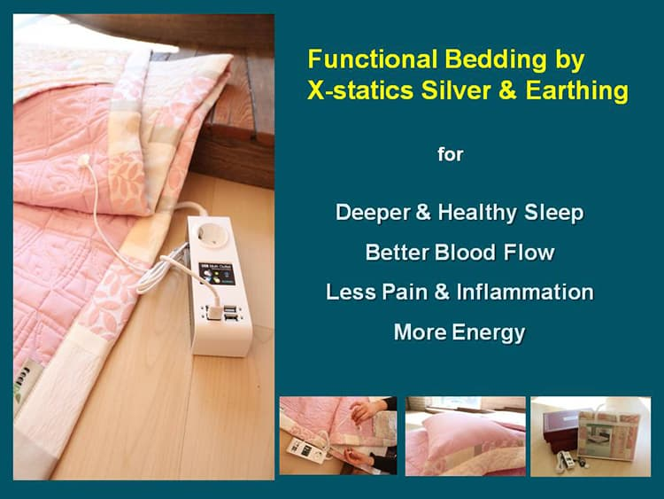 Earthing silver bedding set