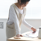 Simple_loose Linen Apron