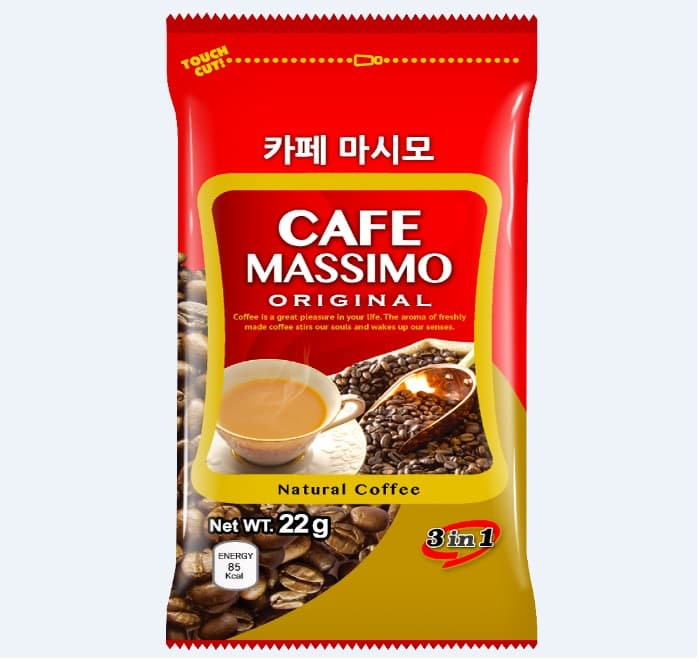Instant Coffee Mix Cafe Massimo Original 3 in 1
