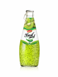 Wholesale Fruit Juice Basil seed drink Kiwi flavour in Glass