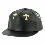 Synthetic Leather Cross Snapback