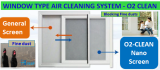 window type air cleaning system _ O2 Clean_ block_ fine dust