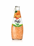 Wholesale Fruit Juice Basil seed drink Orange flavour in Gla