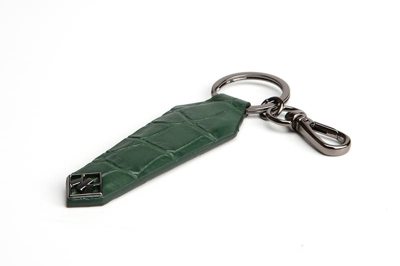 Stingray_ Python_Alligator Embossed Calf Skin Shied Key Ring