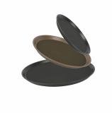 Non-slip round tray