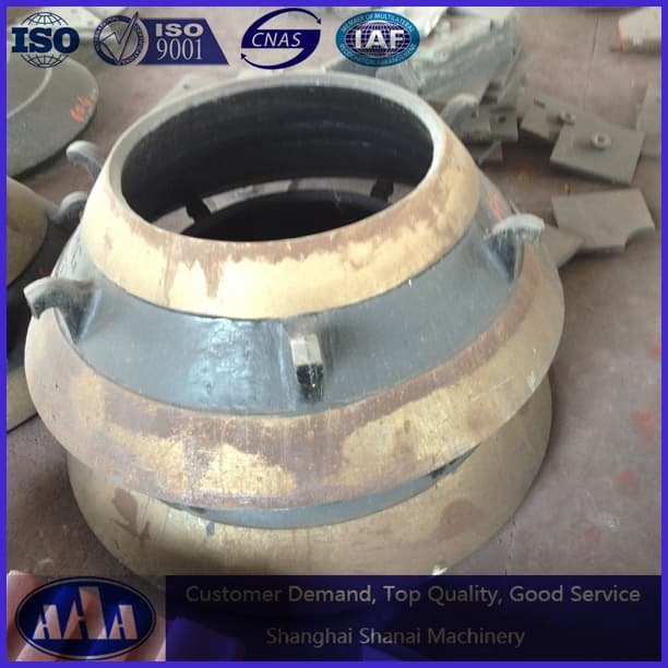high manganese cone crusher mantle and concave bowl liner