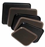 Non-slip square tray