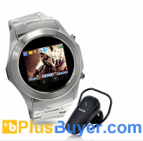 Assassin Dawn - Touchscreen Unlocked Watch Mobile Phone with MP4 - Silver