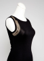 JANET-Lee Attached Corsage, Sleeveless Women Knit Dress