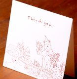 Handmade Letterpress Card with Bear, Thank You Card including Envelopes_2.jpg