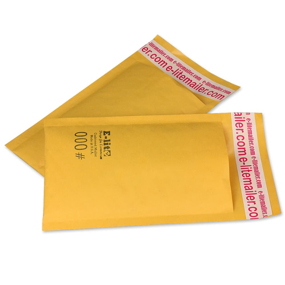 -000 4x8 KRAFT BUBBLE MAILERS PADDED ENVELOPE