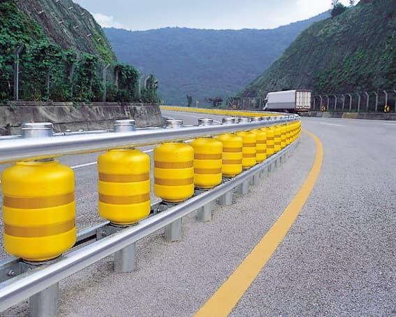 Rolling guardrail barrier median strips from taebaek b
