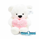 White Teddy Bear with a Heart