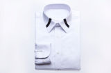 WHITE TWO LINES COLLAR SHIRTS-S15F05WH-