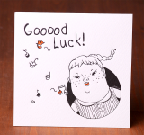 Handmade Letterpress Card, Good Luck Card including Envelopes_2.jpg