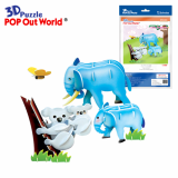 3D Puzzle Educational DIY Toy Animal Model KOALA/ELEPHANT(MOM&BABY)