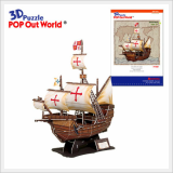 3D Puzzle Educational DIY Toy Ship Model Santa Maria (Large)
