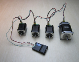 programmable stepper motor controller integrated with motor for stage lighting