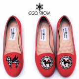 Flat shoes_Red