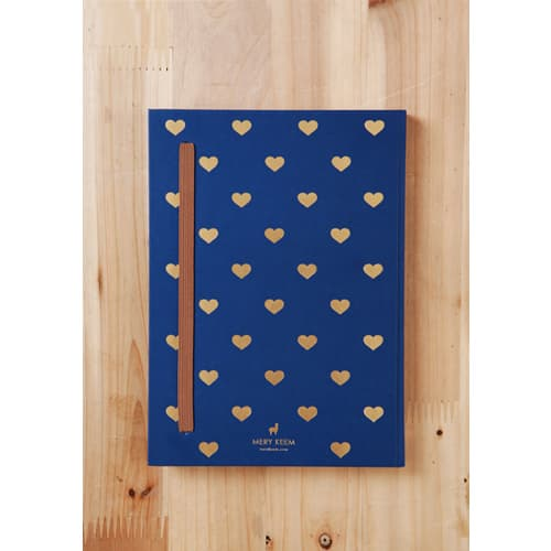 Heart on Gold Foil in Journal Planner