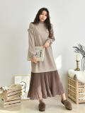 Dress_ Long Dress_ Winter wear_ Women_s Apparel