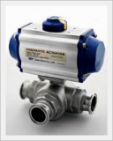 3way Sanitary Ball Valve, Automatic, 2way (Stainless)