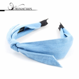 Denim Ribbon headband