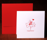 Handmade Letterpress Card with Cat Bee, Congratulation Card including Envelopes_1.jpg