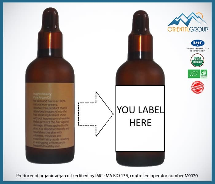 Cold pressed pure organic argan oil best price