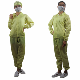 No Dust Antistatic Safety Coat Smock for Industrial Workshop