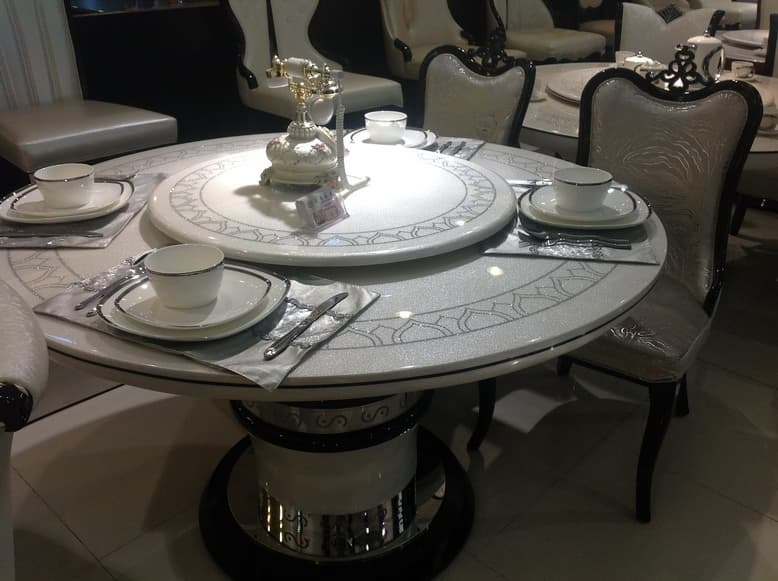 6 Person Round Marble Dining Table From Ntuple Furniture Co Ltd B2B Marketpl