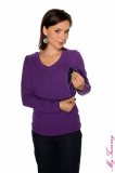Nursing blouse purple