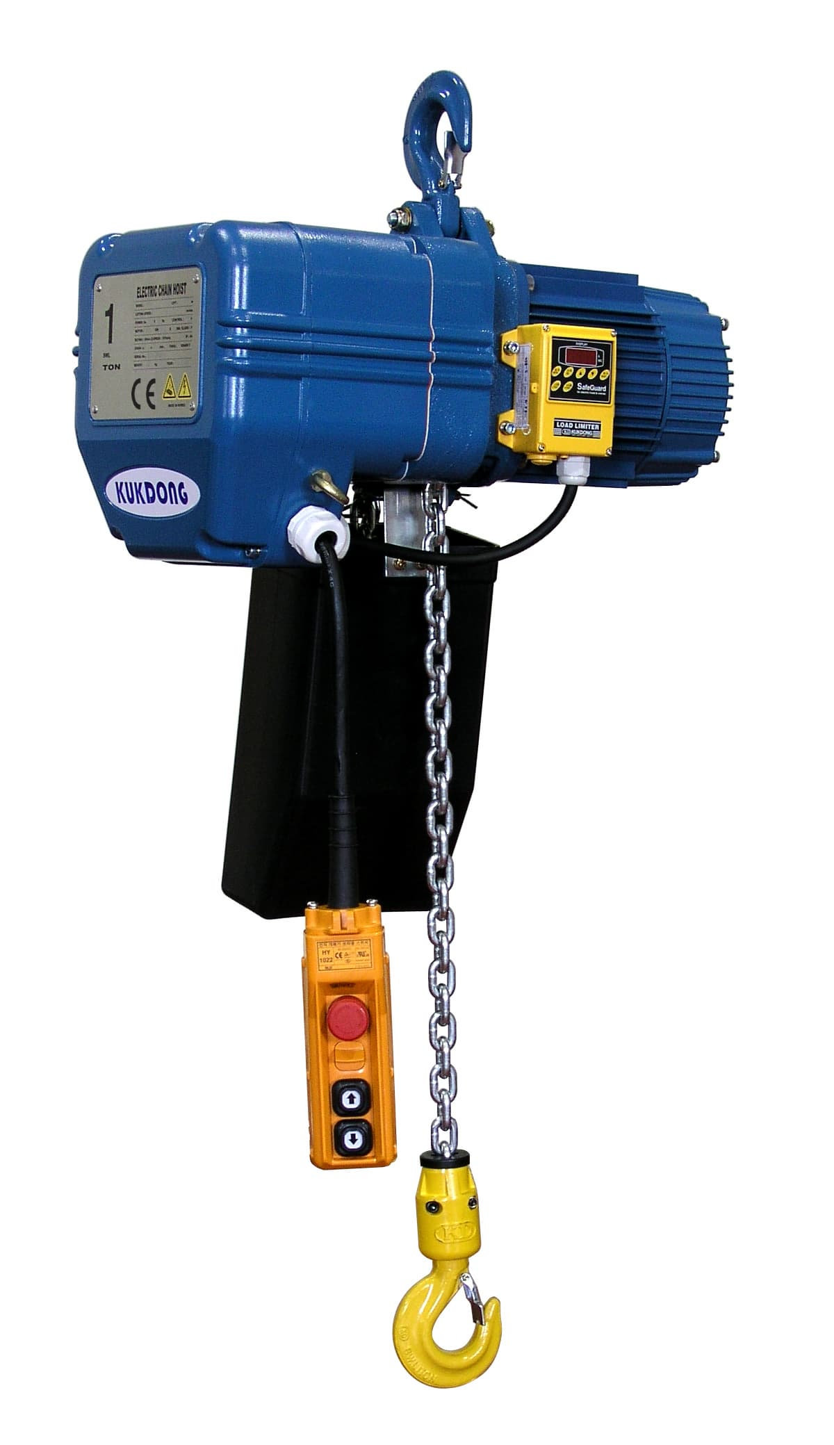Kukdong electric chain hoist kd 1 type from kuk dong hoist for 1 4 ton chain motor
