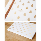 Pineapple on Gold Foil in Wht Journal Planner