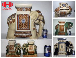 Sold Elephant Garden Stools Side End Tables Stands Vintage Made In Vietnam