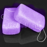 small rectangle Lavender natural sponge