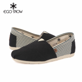 Slip-on easy shoes_Black and Stripe