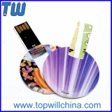 Round Card 16 GB Pen Drives Fast Delivery Color Printing