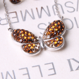 Two_toned Butterfly Necklace