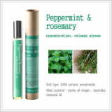 Roll-on Aromatherapy, Aroma Oils (Peppermint & Rosemary)