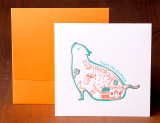 Handmade Letterpress Card with Cat, Thank You Card including Envelopes_1.jpg