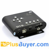 2 Channel Car DVR with PIP Real Time Viewing