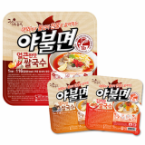 Heating container instant ramen