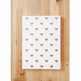 Heart on Gold Foil in White Journal Planner