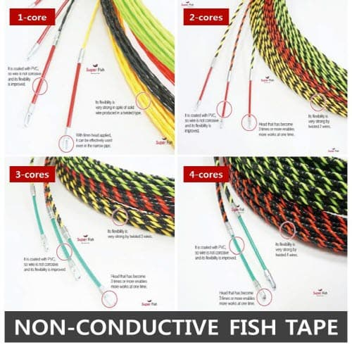 Non_Conductive fish tapes