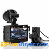 720p Dual Camera HD Car DVR (3.5 Inch Screen, H.264)