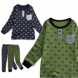 _cutebear_ 30_s flice long sleeves pajama set