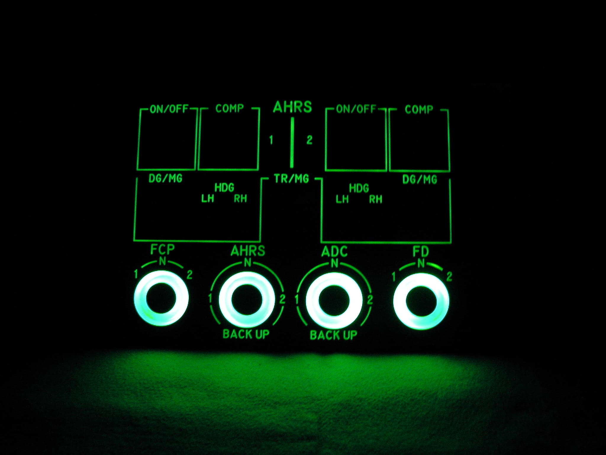 Lighting panels for transportation_aircrafts with NVIS