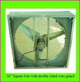 36 inch Square Fan with doubled sided wire guard